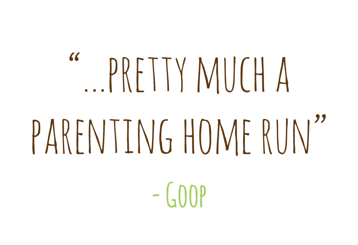 Pretty much a parenting home run